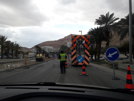 Isrotel Ganim: Road under repair