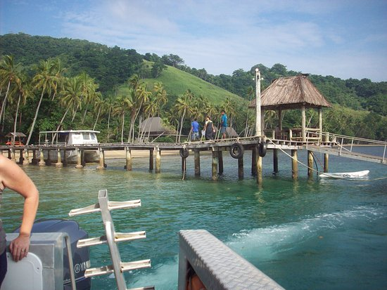 Beqa Island, ฟิจิ: Resort pier as we were leaving