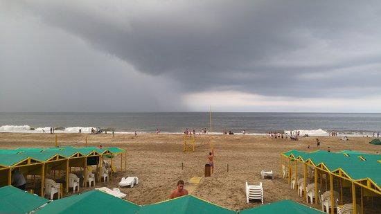 Balneario Peter: Atardecer a punto de llover en Peters