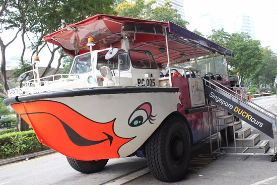 DUCKtours: inviting vehicle