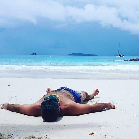 Isla Praslin, Seychelles: View from the beach