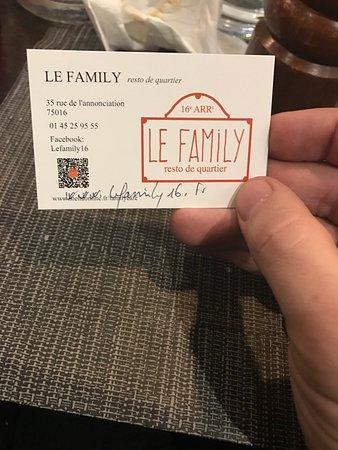 Family Cafe: Le family