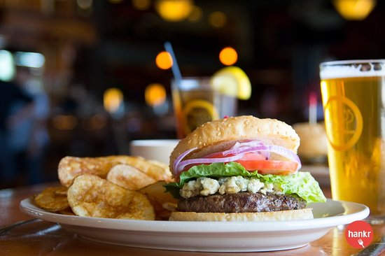 Bleu garlic burger picture of the brass ring madison tripadvisor the brass ring bleu garlic burger junglespirit Image collections