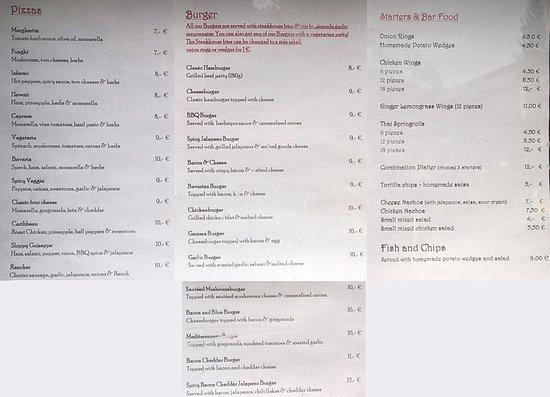 Local Cure: menu