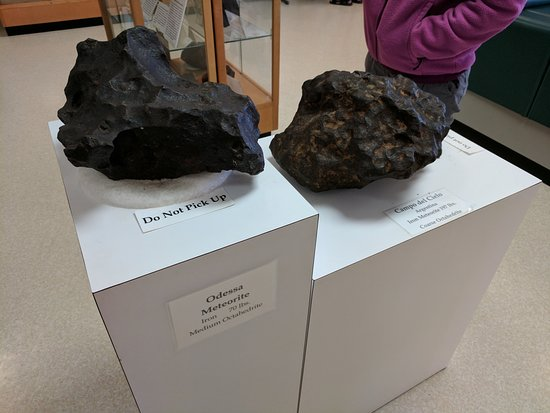 Odessa Meteor Crater and Museum: Meteorites you can touch