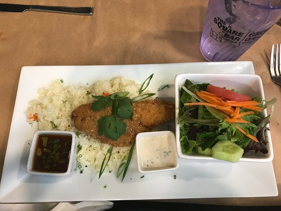 Cudjoe Key, FL: Fried Hog Fish Asian Style