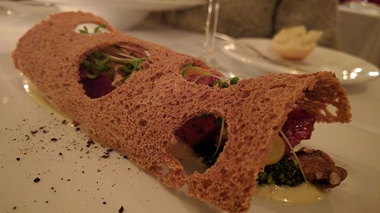 Natalie's Restaurant: Beet-based appetizer
