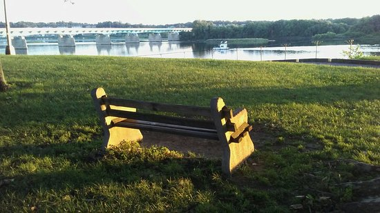 City Island: There's LOTS of comfy benches to sit on to enjoy the beauty of the Susquehanna River!