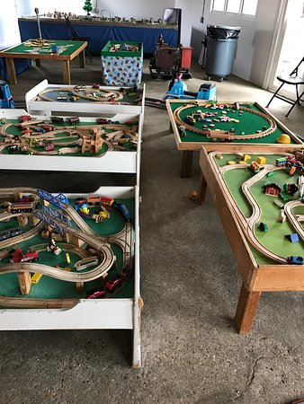 Stupendous Brio Train Room With 9 Tables For Play Picture Of Home Remodeling Inspirations Basidirectenergyitoicom