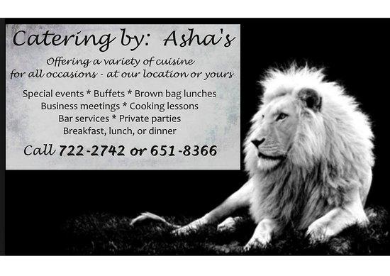 بونتا جوردا, بليز: Catering services offered by Asha's Culture Kitchen