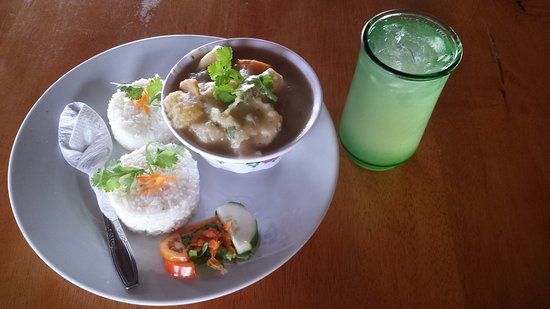 Punta Gorda, Belize: Conch soup, one of our new lunch specials