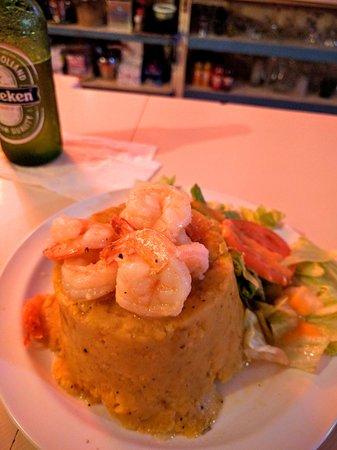 Brisas del Mar: Mofongo with shrimp