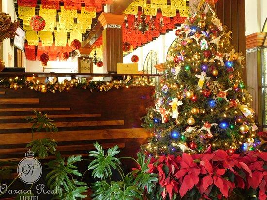 Lobby Hotel Oaxaca Real. Diciembre