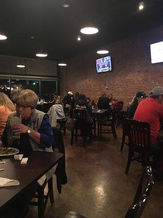 Panhandle, TX : Brickstreet 200's main dining Area. 6 TV's.  And the cool floor of the very nice ladies bathroom