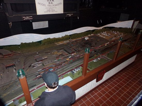 Dennison, OH: Railroad model of the yard