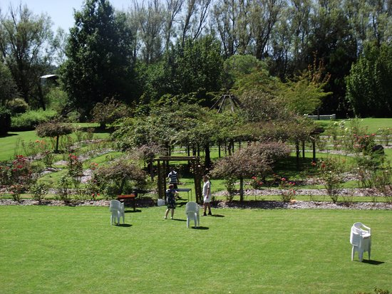 Awahuri, New Zealand: Setting up for the garden wedding