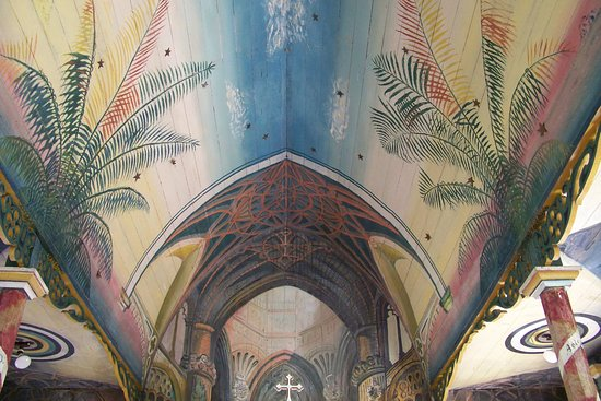 Honaunau, Hawái: Inside The Painted Church.