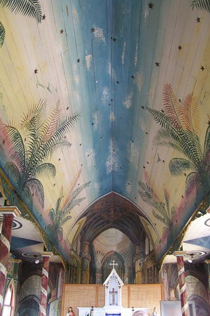 Honaunau, Havaí: Inside The Painted Church.