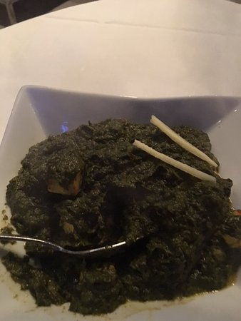 Copper Chimney: Spinach with Indian Cheese Entree