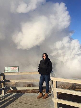 Grindavik, ไอซ์แลนด์: me at the hot spring