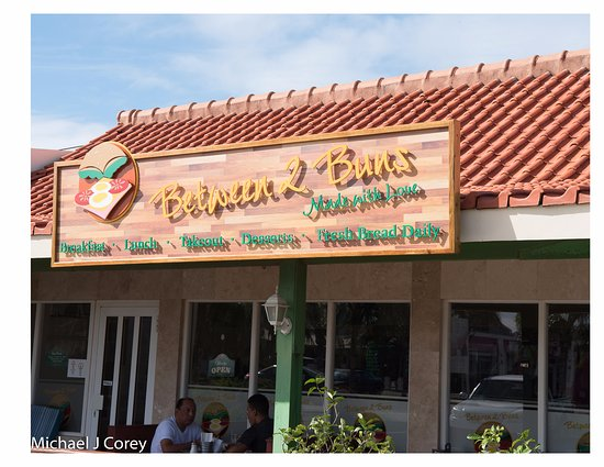 Between 2 Buns: Sign in Front