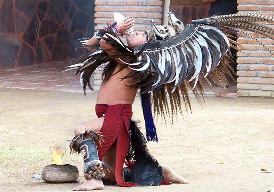 La Casa de Dona Lupe: Aztec fire dance.