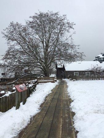 Britannia Shipyards National Historic Site: Snowing Feb 2017