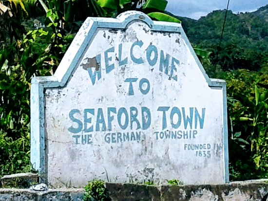 Seaford Town, Jamajka: Welcome sign