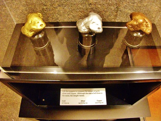 Gold And Copper : Gold silver and copper nuggets picture of wells fargo museum