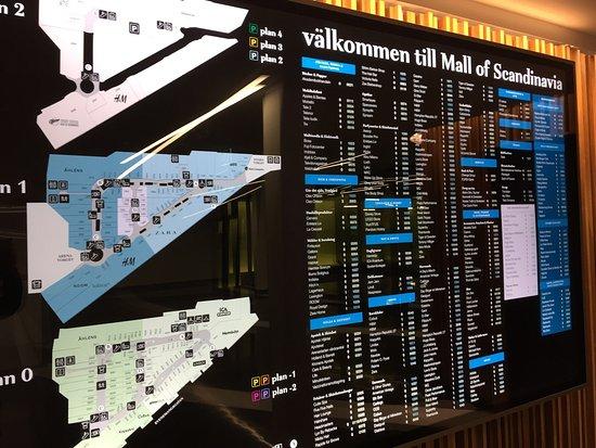 mall of scandinavia karta