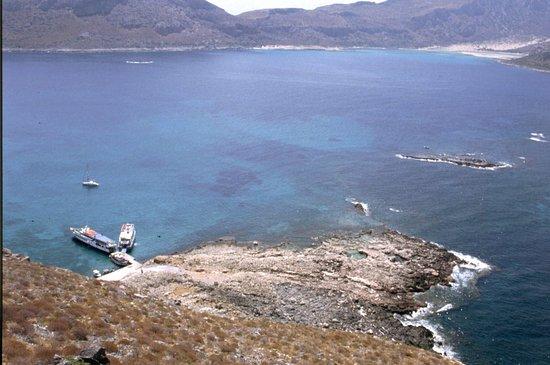 Gramvousa, Grecia: vista dall'alto