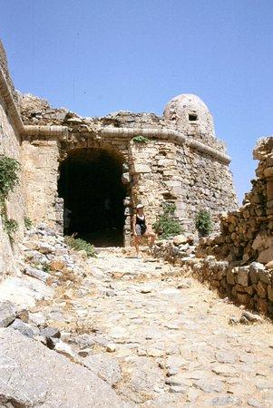 Gramvousa, Grecia: antico ingresso alla fortezza