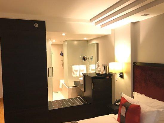 Radisson Blu Elizabete Hotel : Standard dobbelt værelse (824), åben imod badeværelse