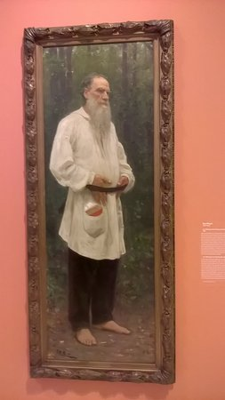 Drents Museum: Tolstoy bare footed by famous Ilya Repin at the Peredvizhniki exhibit In Assen
