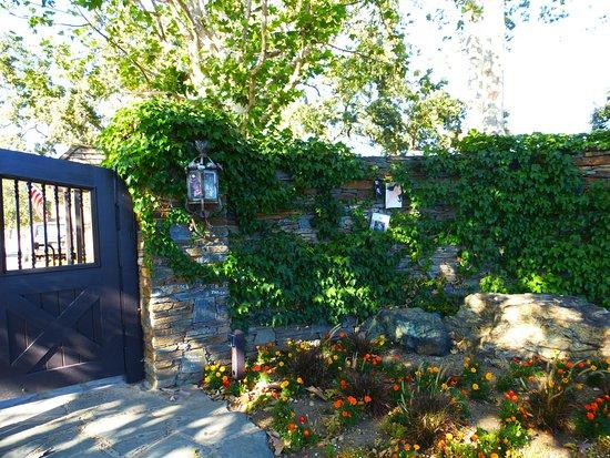 Los Olivos, Καλιφόρνια: Le portail et les petits mots