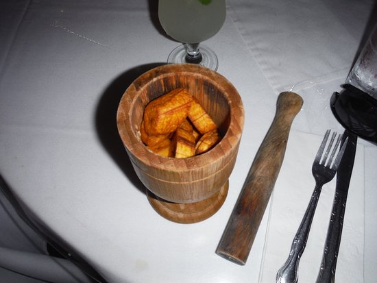 Flavors of San Juan Food and Culture Tours: Mofongo Plaintains waiting for the chicken