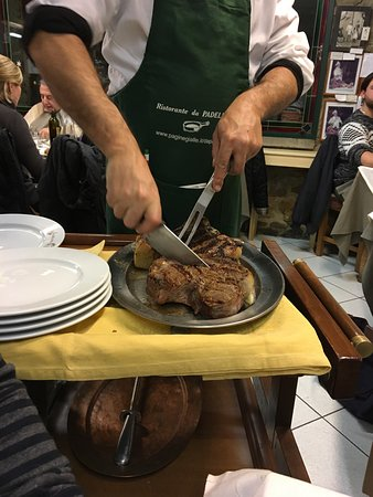 Ristorante da Padellina: Melt in your mouth Florentine steak! Friendly staff as well and Dante in every language.