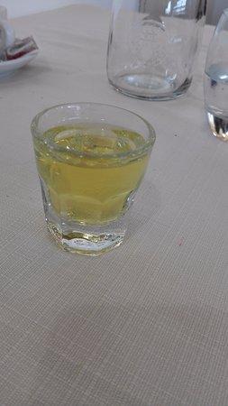 Oriente : A shot of Genziana liqueur