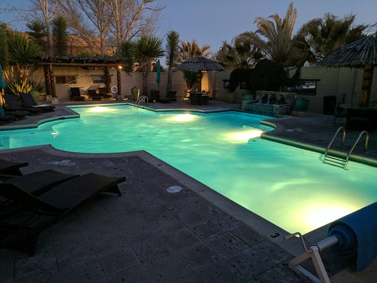 Gage Hotel: Pool at night
