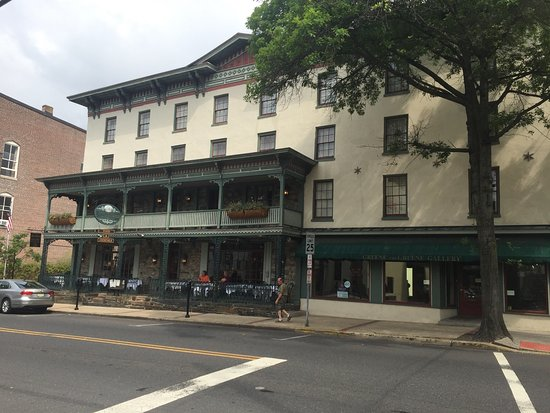 Lambertville, NJ : Front of Hotel on Bridge St.
