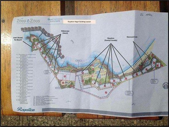 Resort map Picture of Royalton Negril Negril TripAdvisor
