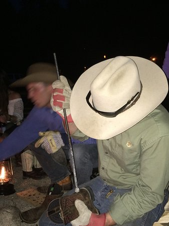 C Lazy U Ranch: Branding boots and anything leather at the nighttime campfire.