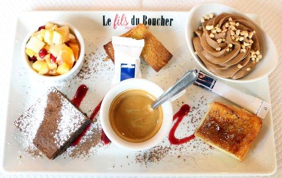 Saint-Sulpice-et-Cameyrac, Francia: café gourmand