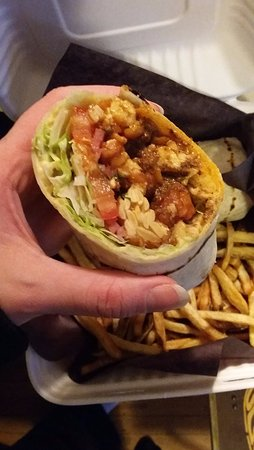 The Merchant Ale House: shawarma vegan close up