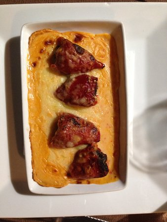El Olivo : Ronda black pudding stuffed peppers