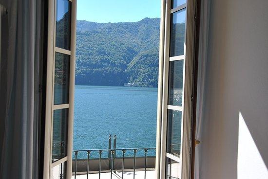 Carate Urio, Italie : Vue depuis la fenêtre de notre chambre
