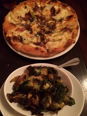 Liberty Tavern: Vermont pizza and crispy brussel sprouts.