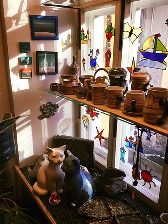 Bogapott´s art shop. All the ceramics are made right there in the studio.