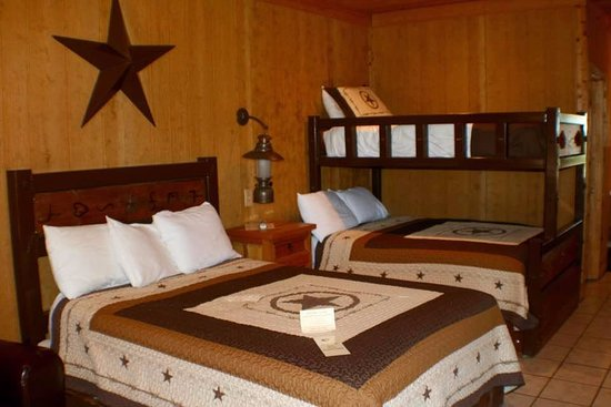 Harvard Lodge at Sproul Ranch: Queen room.  $145.00 per night for 2 people, and $10.00 for each additional person.