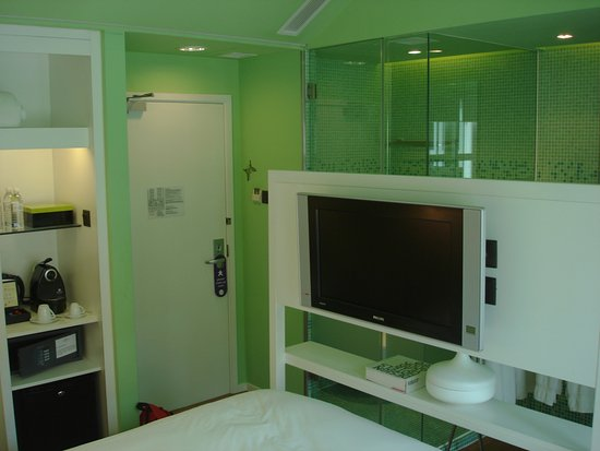 New Majestic Hotel: Hotel New Majestic - jedes Zimmer ein anderes Design; hier: grün